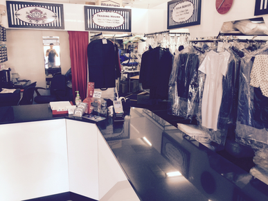 Toleman's dry cleaners inside our store